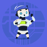 Cute Robot Fighting Modern Artificial Intelligence Technology Concept Stock Images