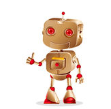 Cute robot gesturing. On white background, vector illustration royalty free illustration