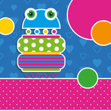 Cute robot greeting card royalty free illustration