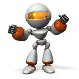 Cute robot have shown guts. Royalty Free Stock Images