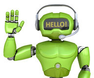 Cute robot with headphones Royalty Free Stock Image