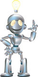 Cute robot illustration Royalty Free Stock Image