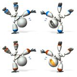 A cute robot that performs dance performance. Royalty Free Stock Photography