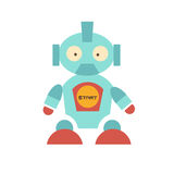 Cute Robot with red shoes Stock Photo