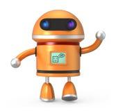 Cute robot say hello Stock Image