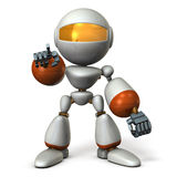 Cute robot will nominate you. Royalty Free Stock Photography
