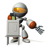 Cute robot will vote. Royalty Free Stock Images