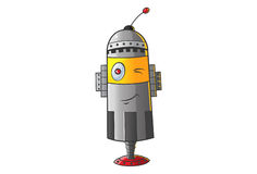 Cute Robot Winking Royalty Free Stock Photography