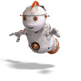 Cute roboter with lot of emotion Royalty Free Stock Images