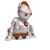 Cute roboter with lot of emotion Stock Photography