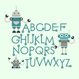 Cute robots design Stock Photography