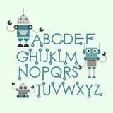 Cute robots design Stock Photography
