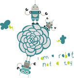 Cute robots design Royalty Free Stock Images