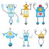 Cute robots set Stock Photos