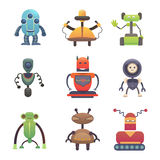 Cute Robots. Set robot vectoor illustration Royalty Free Stock Images