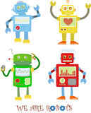 4 Cute Robots Royalty Free Stock Image
