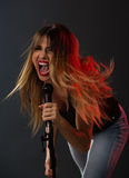 Cute Rock Star Royalty Free Stock Images
