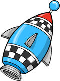 Cute Rocket Vector Illustration Royalty Free Stock Photography