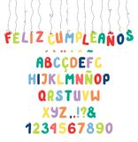 Cute roman alphabet with diacritics royalty free illustration