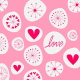 Cute romantic background Royalty Free Stock Images