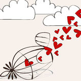 Cute romantic illustration Royalty Free Stock Image