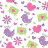 Cute romantic pattern Stock Photography