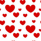 Cute romantic red hearts seamless valentine pattern background illustration Royalty Free Stock Photography
