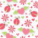 Cute romantic seamless pattern Royalty Free Stock Photography
