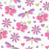 Cute romantic seamless pattern Stock Photos