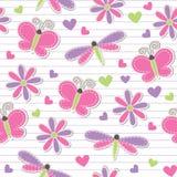 Cute romantic seamless pattern Stock Photos
