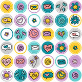 Cute romantic seamless pattern Stock Photography
