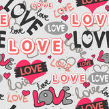 Cute romantic seamless pattern Royalty Free Stock Photos