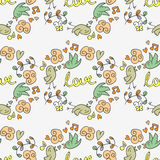 Cute romantic seamless pattern Stock Photo