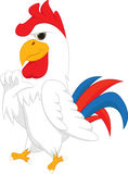 Cute rooster cartoon give thumb up Royalty Free Stock Photography