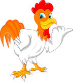 Cute rooster cartoon Royalty Free Stock Image