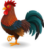 Cute rooster cartoon Royalty Free Stock Photos
