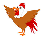 Cute rooster cartoon Stock Images