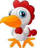 Cute rooster cartoon posing Stock Photo