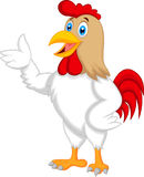 Cute rooster cartoon presenting Royalty Free Stock Photo