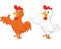 Cute rooster cartoon presenting Royalty Free Stock Image