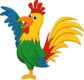 Cute rooster cartoon presenting Stock Photos