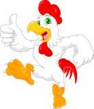 Cute rooster cartoon thumb up. Vector illustration of cute rooster cartoon thumb up stock illustration