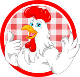 Cute rooster cartoon Stock Photos