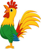 Cute rooster cartoon Stock Image