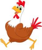 Cute rooster cartoon walking Royalty Free Stock Photo