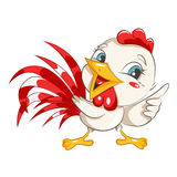 Cute rooster. Royalty Free Stock Images