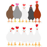 Cute roosters set Royalty Free Stock Photo