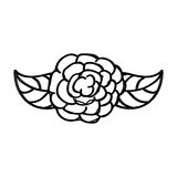 Cute rose drawing icon Royalty Free Stock Photography