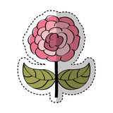 Cute rose drawing icon Royalty Free Stock Image