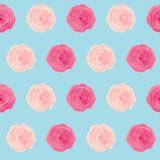 Cute Rose Flower Seamless Pattern Background Vector Illustration Stock Photos